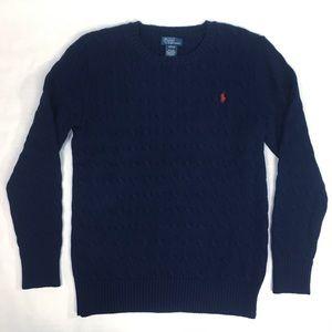 Boys XL Ralph Lauren Cable Knit Sweater EUC